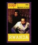 Timbre-poste massif de SAttck du Rwanda Photographie stock libre de droits