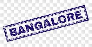 Timbre rayé de rectangle de BANGALORE illustration libre de droits