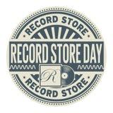 Timbre record de jour de magasin illustration stock