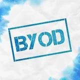 Timbre rectangulaire de Byod illustration libre de droits