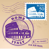 Timbre Rome réglé illustration de vecteur