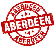 Timbre rond rouge d'Aberdeen Images stock