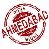 Timbre rouge d'Ahmedabad Illustration Libre de Droits