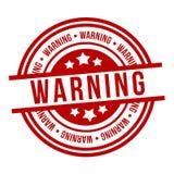 Timbre rouge d'avertissement Insigne du vecteur Eps10 illustration stock