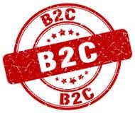 timbre rouge de b2c illustration libre de droits