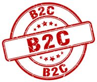 timbre rouge de b2c illustration stock