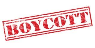 Timbre rouge de boycott illustration stock