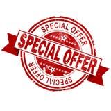Timbre rouge de cru d'offre spéciale illustration stock