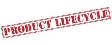 Timbre rouge de cycle de vie du produit Photo stock