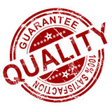 Timbre rouge de qualité Image libre de droits