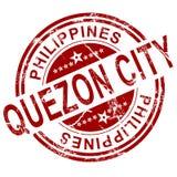 Timbre rouge de Quezon City Photographie stock libre de droits