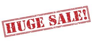 Timbre rouge de vente énorme illustration stock