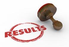 Timbre rouge rond Word d'évaluation d'essai de résultats illustration stock