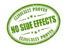 Timbre sûr de produit, aucun effets secondaires illustration stock