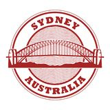 Timbre Sydney Harbour Bridge, Australie illustration de vecteur