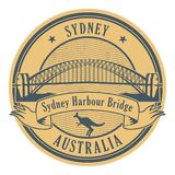 Timbre Sydney Harbour Bridge, Australie illustration stock