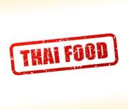 Timbre thaïlandais des textes de nourriture Photo libre de droits