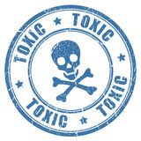 Timbre toxique de danger illustration stock