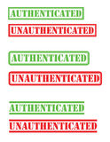 Timbre unauthenticated authentifié Images stock