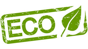 timbre vert avec le texte ECO Photos stock