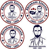 Timbres d'Abraham Lincoln Photo stock