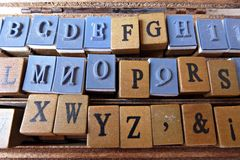 Timbres d'alphabet photographie stock