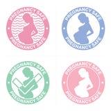 Timbres de coffre-fort de grossesse réglés illustration libre de droits