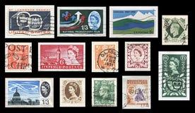 Timbres de Commonwealth britannique de vintage images libres de droits