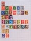 Timbres de courrier britanniques Photos stock