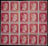 Timbres de courrier d'Adolf Hitler image stock