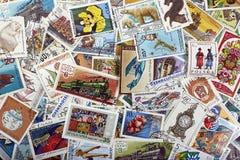 Timbres de courrier de vintage Photographie stock libre de droits