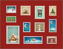 Timbres de Noël Photos stock