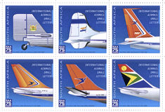 Timbres de South African Airways Image libre de droits