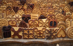 Timbres de tissu d'Adinkra Images libres de droits