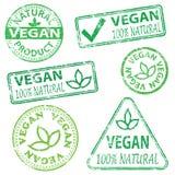 Timbres de Vegan Photos libres de droits