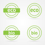 Timbres de vert de vecteur Image libre de droits