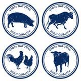 Timbres de viande de qualité Photos libres de droits