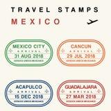 Timbres de voyage du Mexique illustration de vecteur