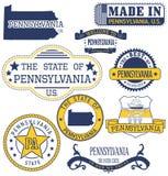 Timbres et signes génériques de la Pennsylvanie Photos libres de droits