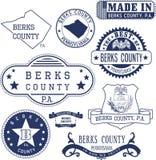 Timbres et signes génériques du comté de Berks, PA Photos stock