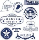 Timbres et signes génériques du comté de Chester, PA Image stock