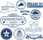 Timbres et signes génériques du comté de Schenectady, NY Images libres de droits