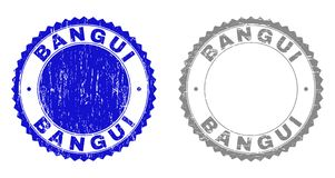 Timbres grunges texturisés de BANGUI illustration stock