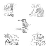 Timbres mignons d'Animalia Photos stock