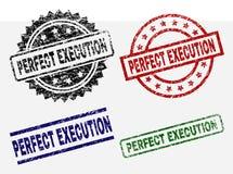 Timbres PARFAITS texturisés rayés de joint d'EXÉCUTION illustration stock