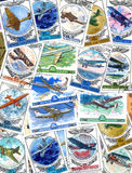 Timbres-poste : aviation Images stock