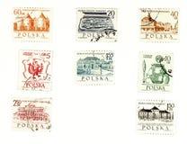 Timbres-poste collectables de Pologne Photo libre de droits