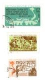 Timbres-poste de cru du Vietnam Photos libres de droits