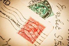 Timbres-poste de vintage Photos libres de droits