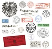 Timbres-poste et labels de Berlin, Allemagne Photo stock